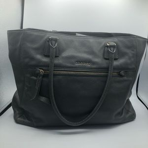 Cole Haan gray leather double strap purse